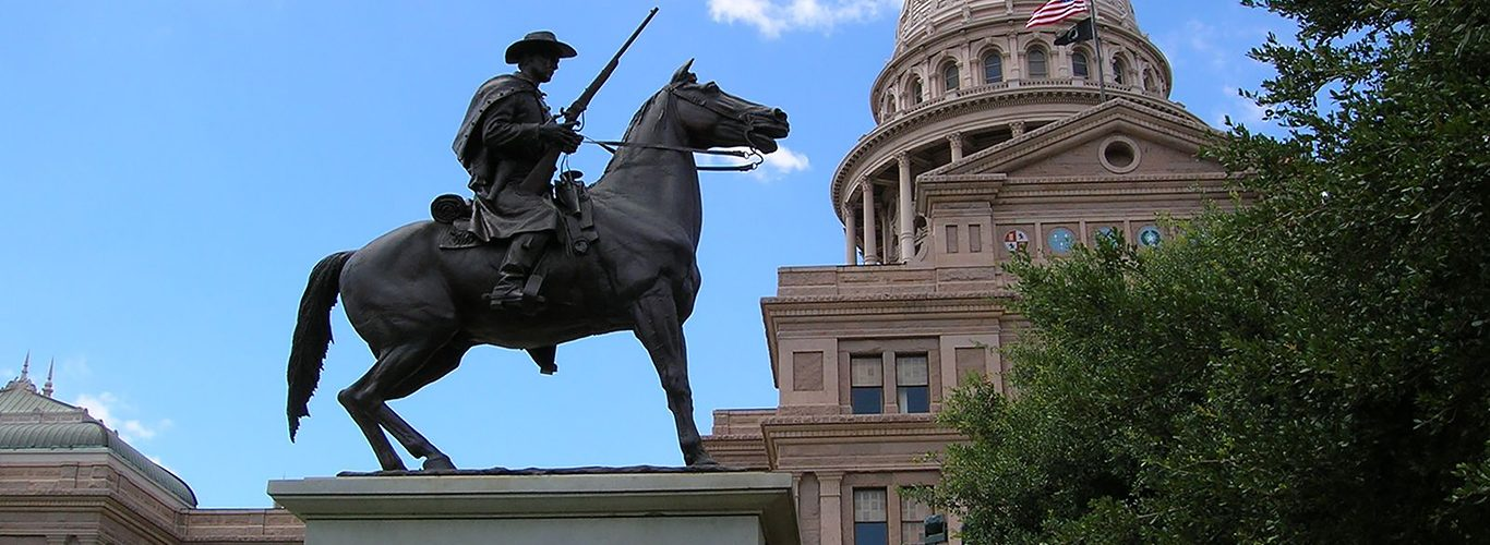 Austin Texas Capital Building and Statue